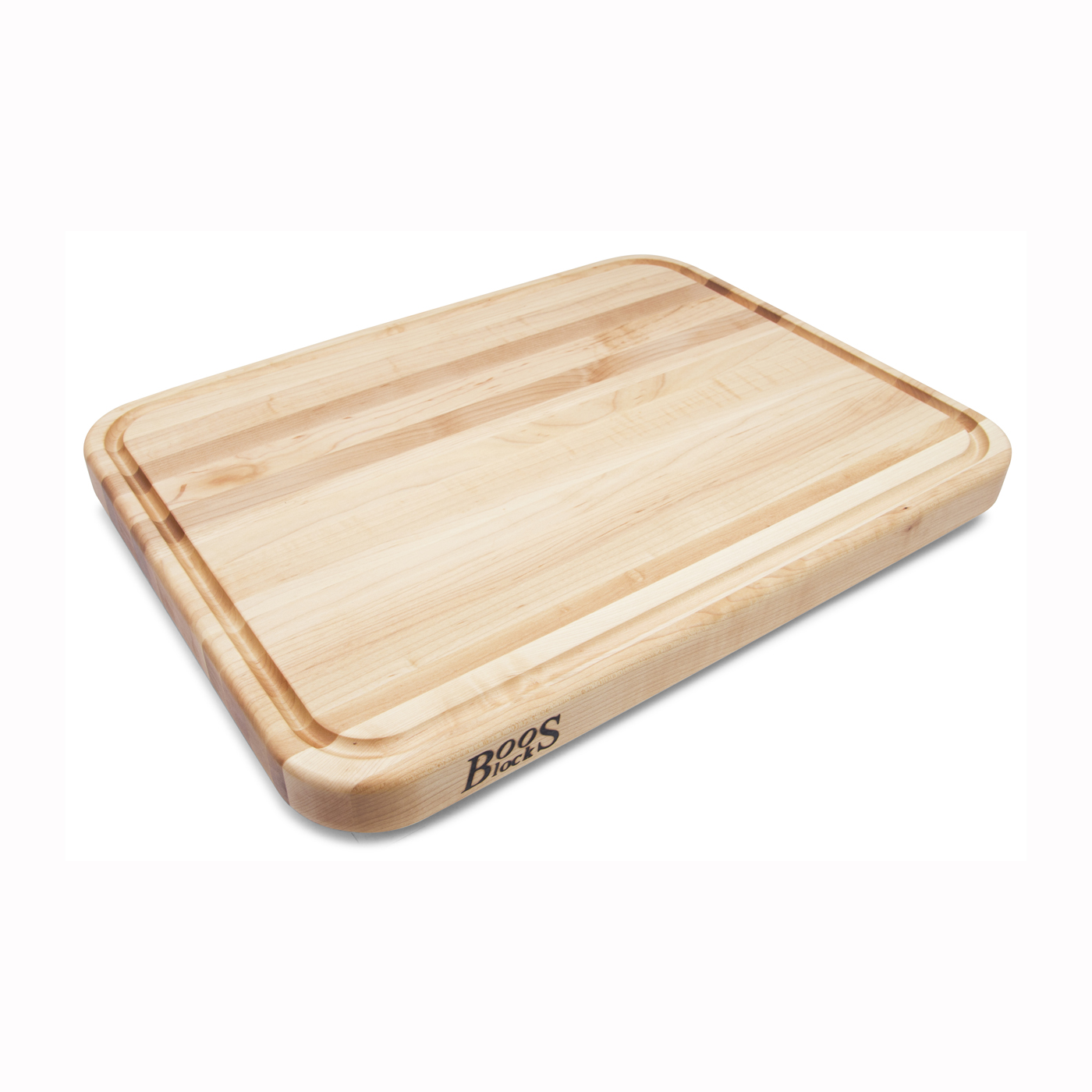 NEW John Boos Reversible Maple Cutting Board with Juice Groove 24 x 18 x 2.25